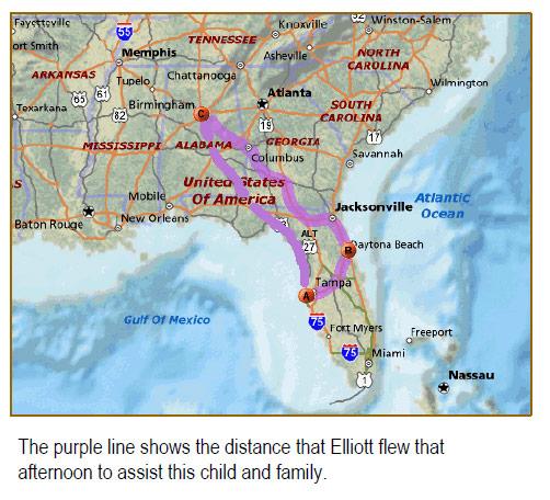 eliiots flight route