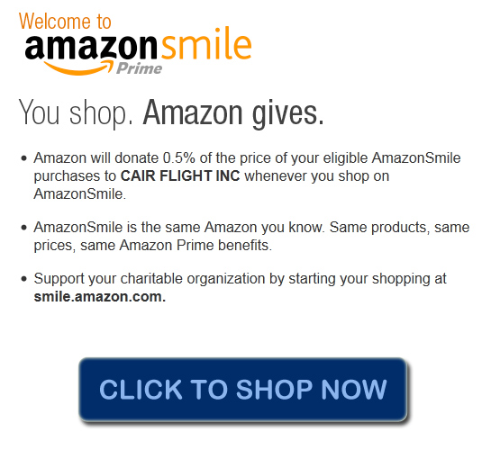 Shop Amazon and help CairFlight